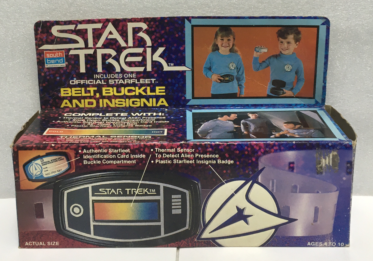 1979 south bend star trek belt, buckle and insignia 1