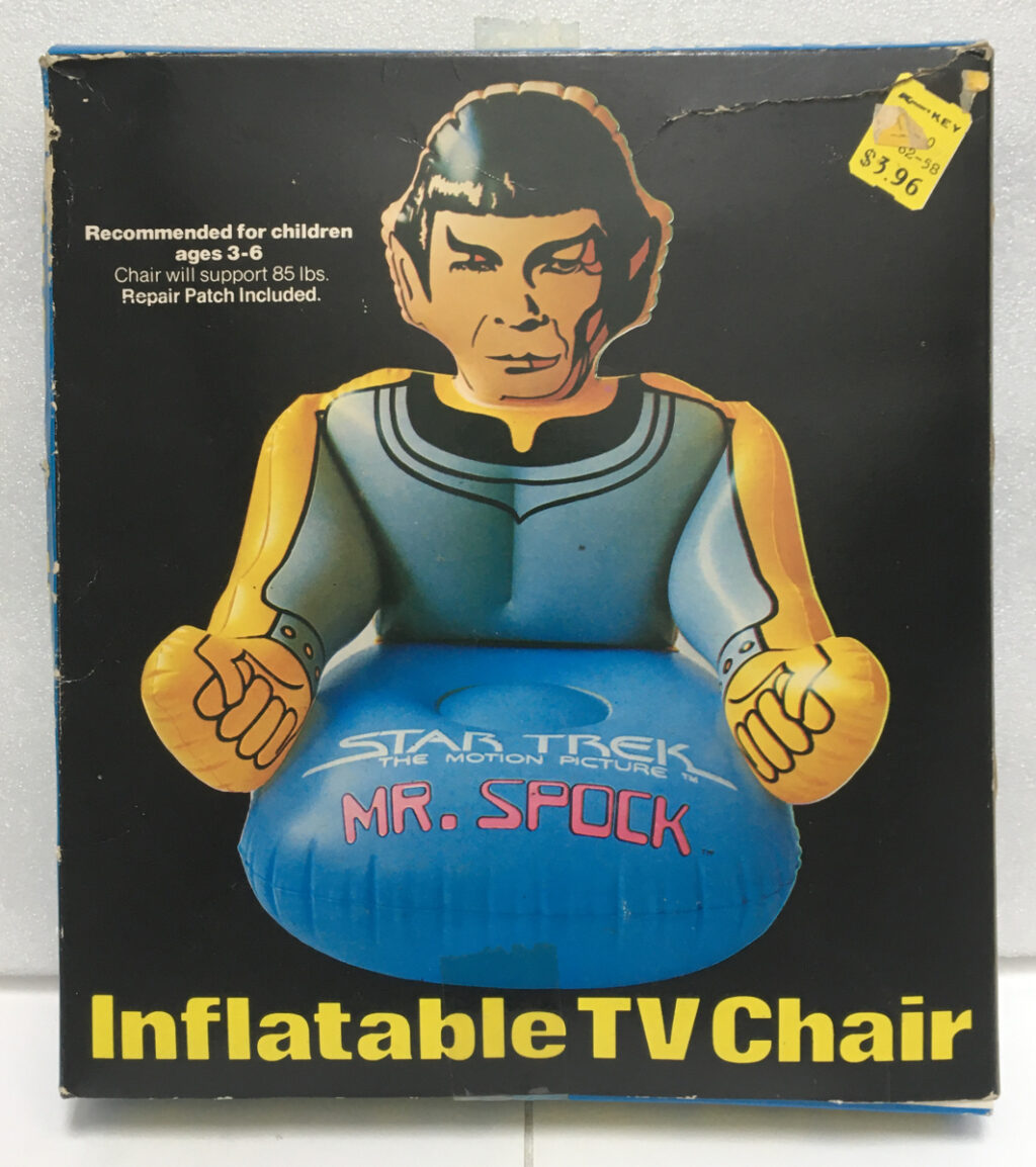 star trek the motion picture mr spock inflatable tv chair 1