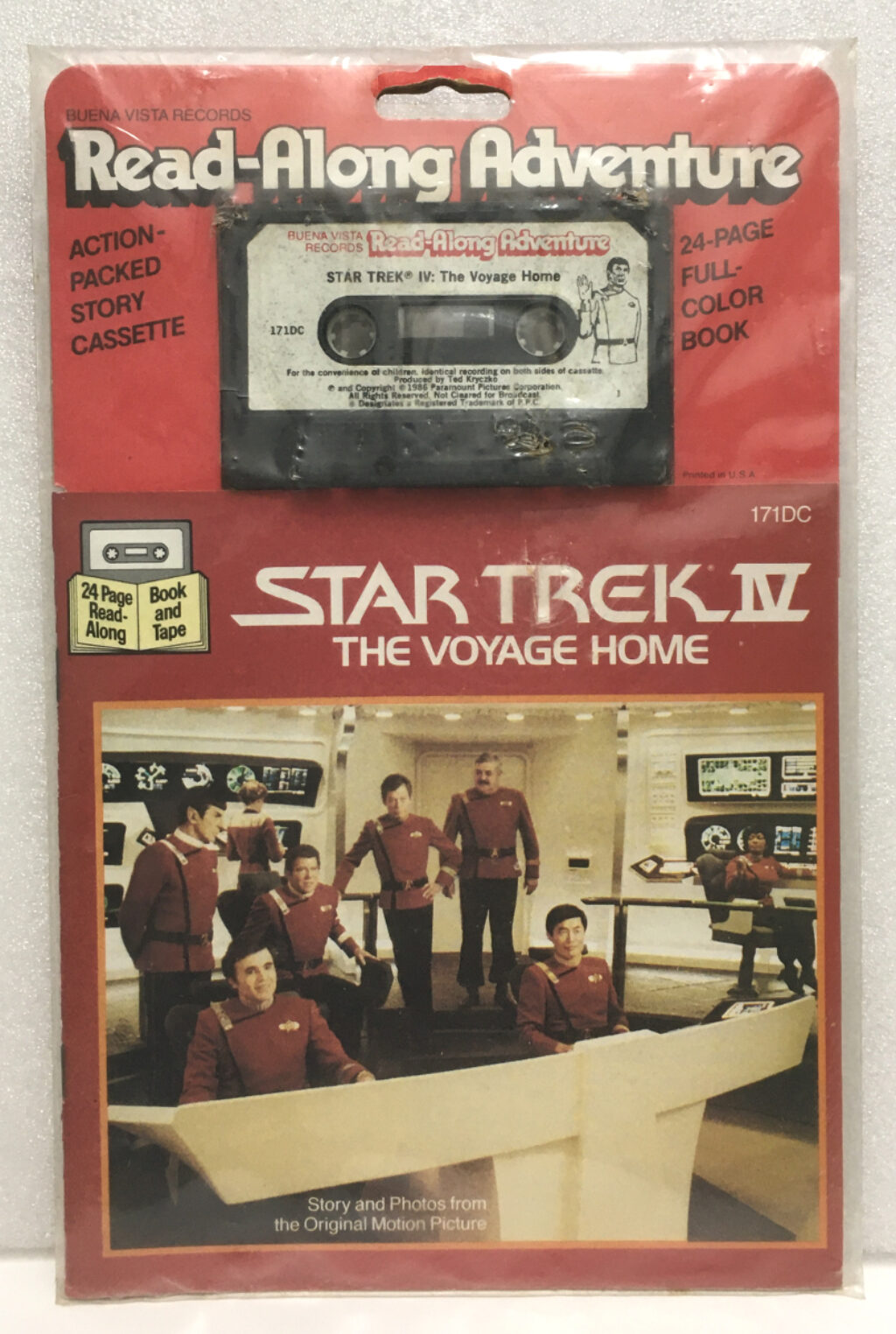 star trek the voyage home book and tape set 1