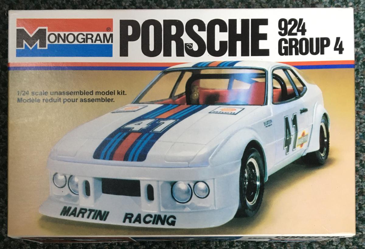 monogram porsche 924 group 4 model kit 1