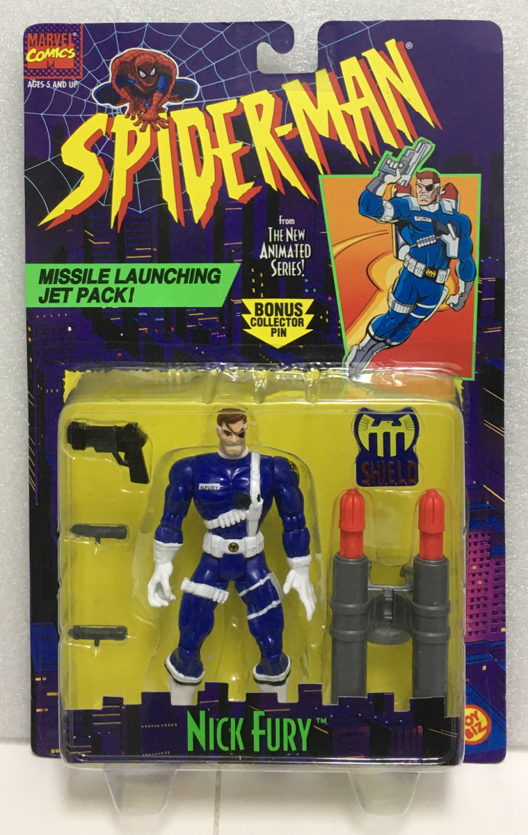 toy biz spider-man the animated series nick fury action figure 1