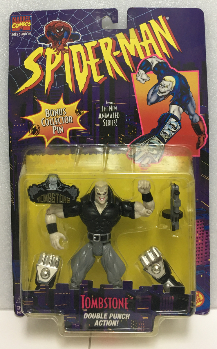 toy biz spider-man the animated series tombstone action figure 1