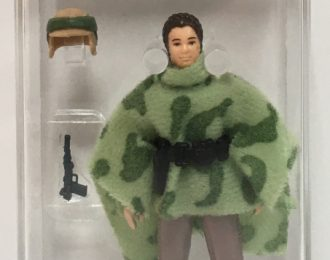 1984 AFA-Graded 80+ NM Kenner Star Wars Leia in Combat Poncho