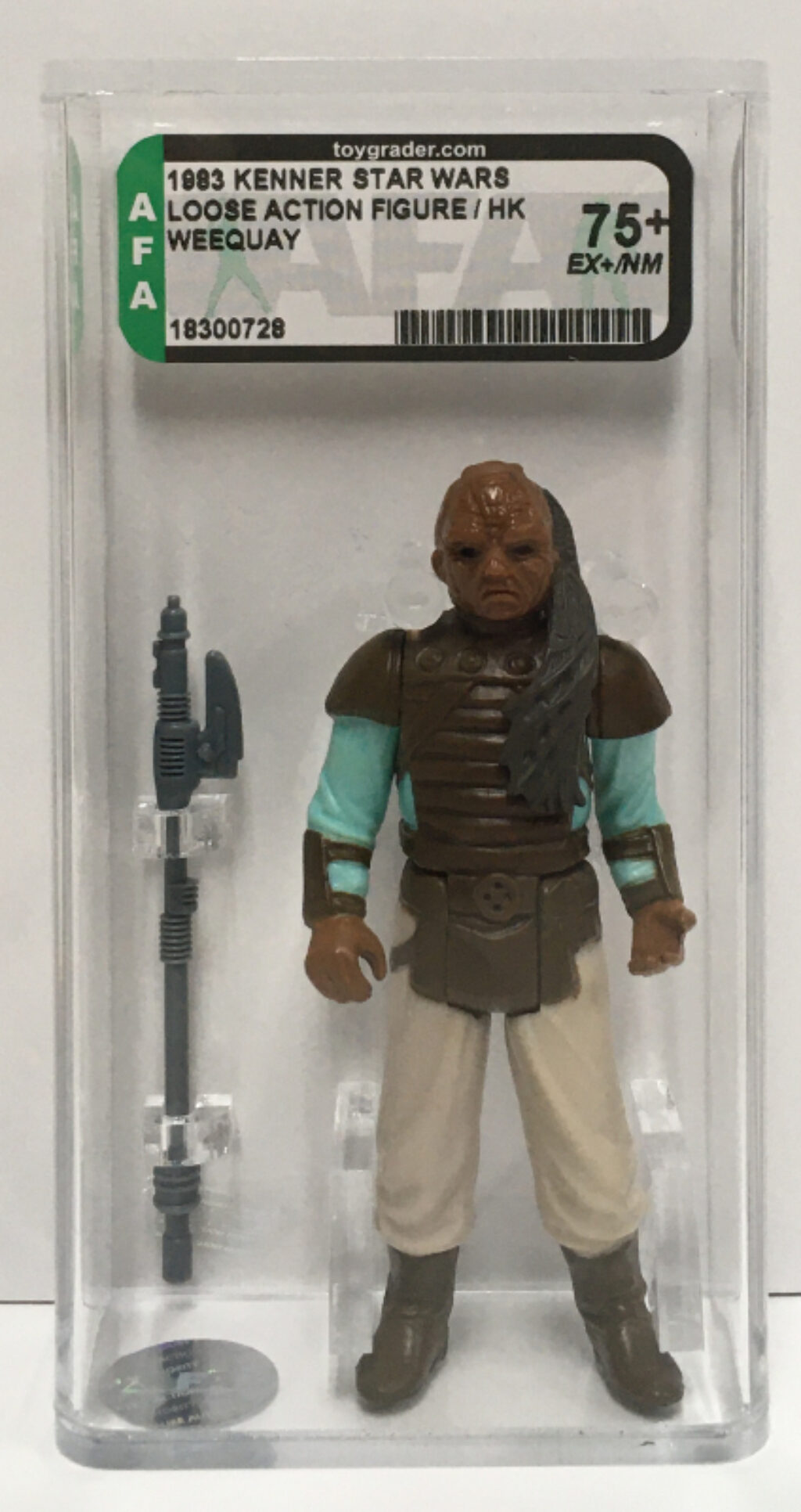 afa graded kenner star wars weequay 1