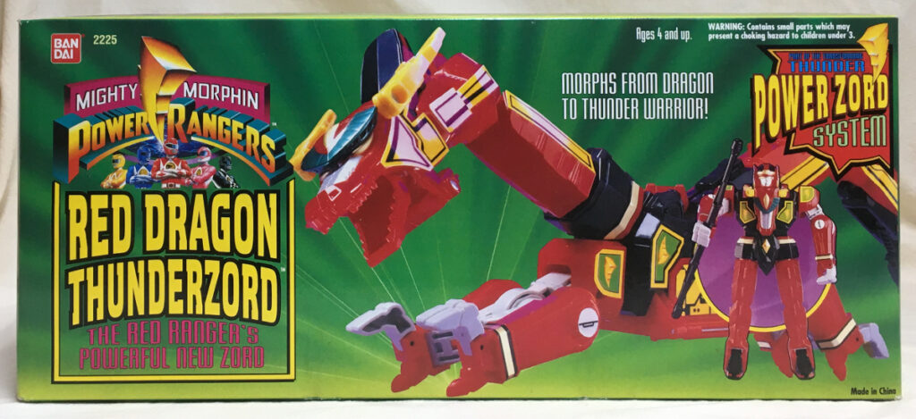 1994 bandai power rangers red dragon thunderzord 1