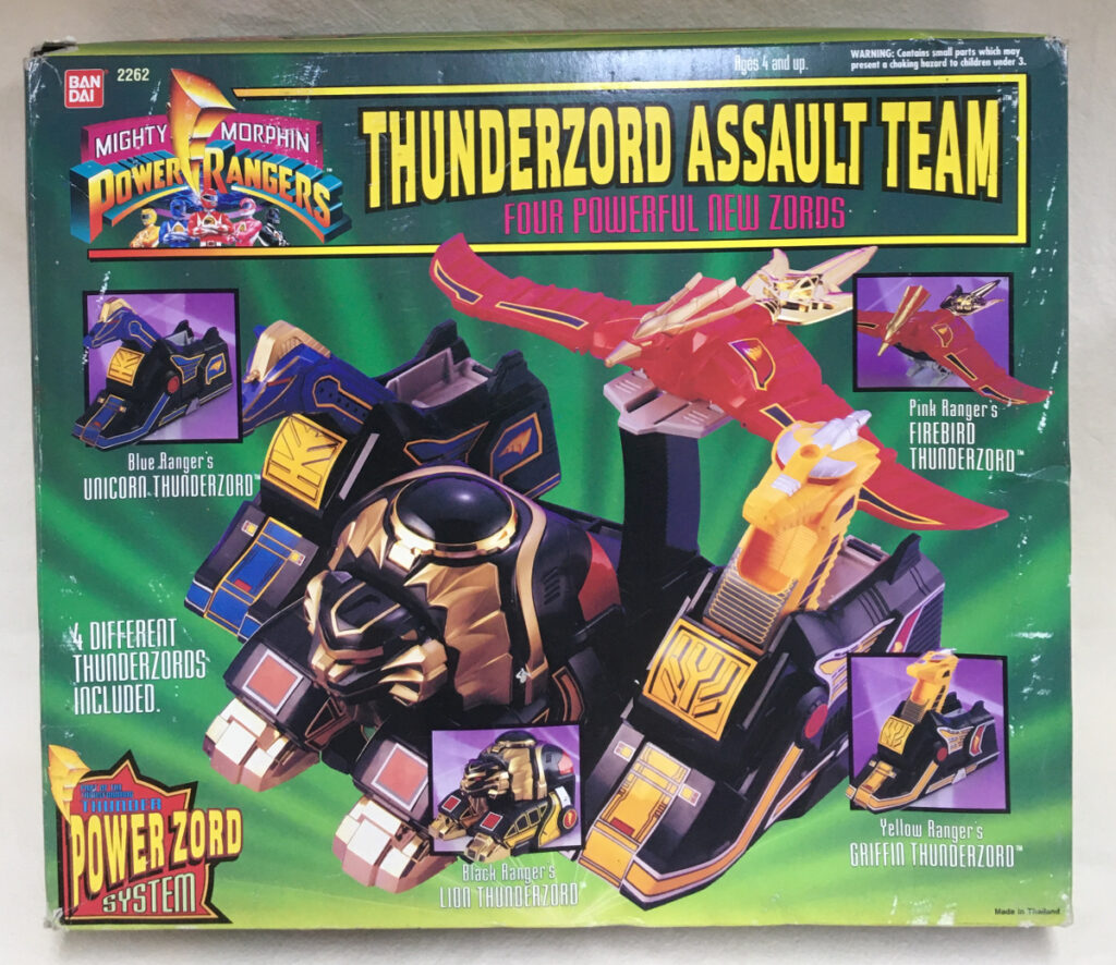 1994 bandai power rangers thunderzord assault team 1