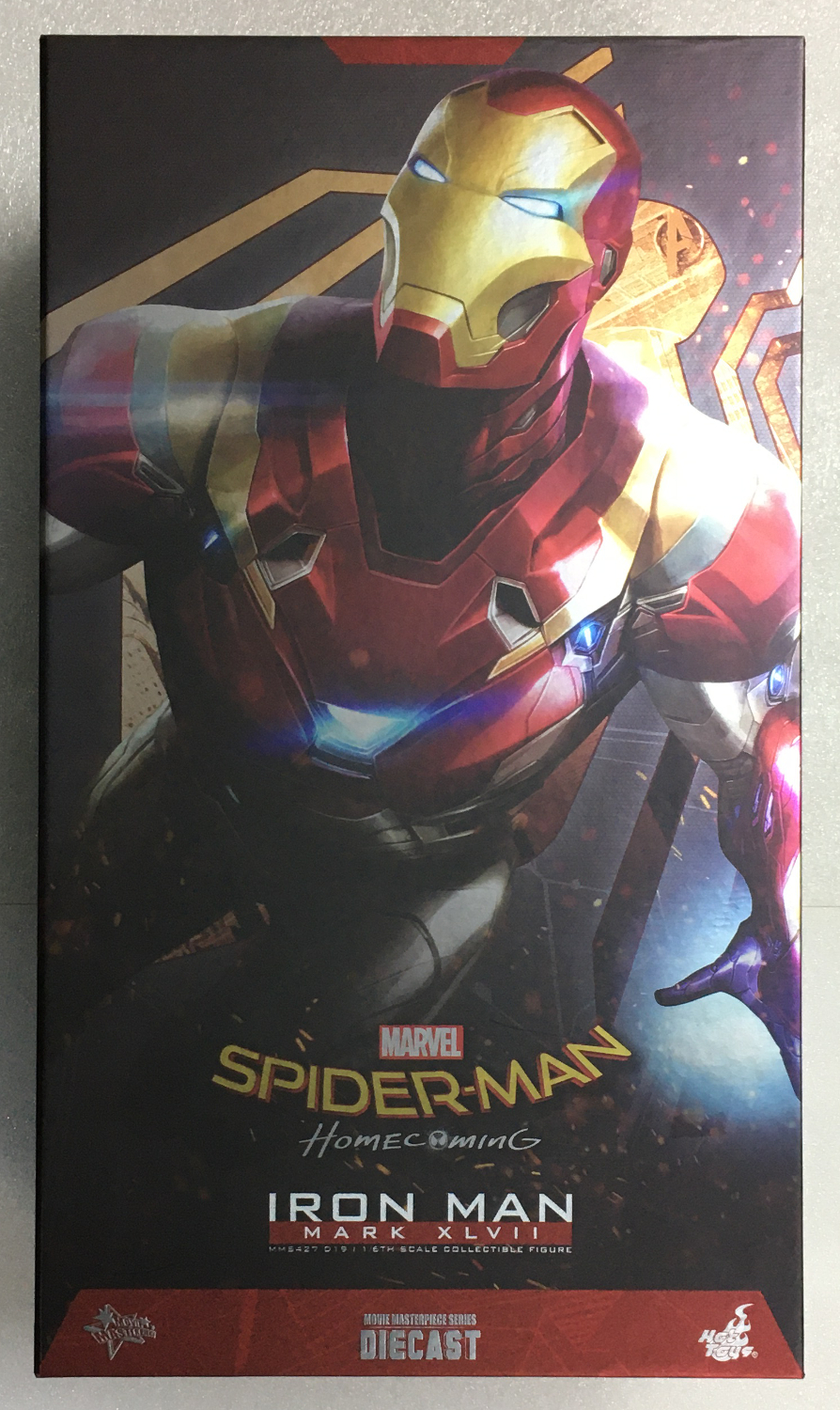 hot toys spider-man homecoming iron man mark xlvii 1:6 scale die cast figure 1