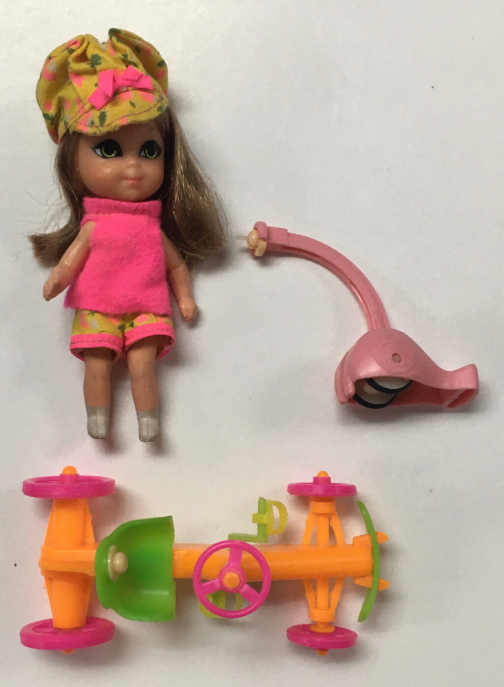 1968 mattel liddle kiddles annabelle autodiddle 1