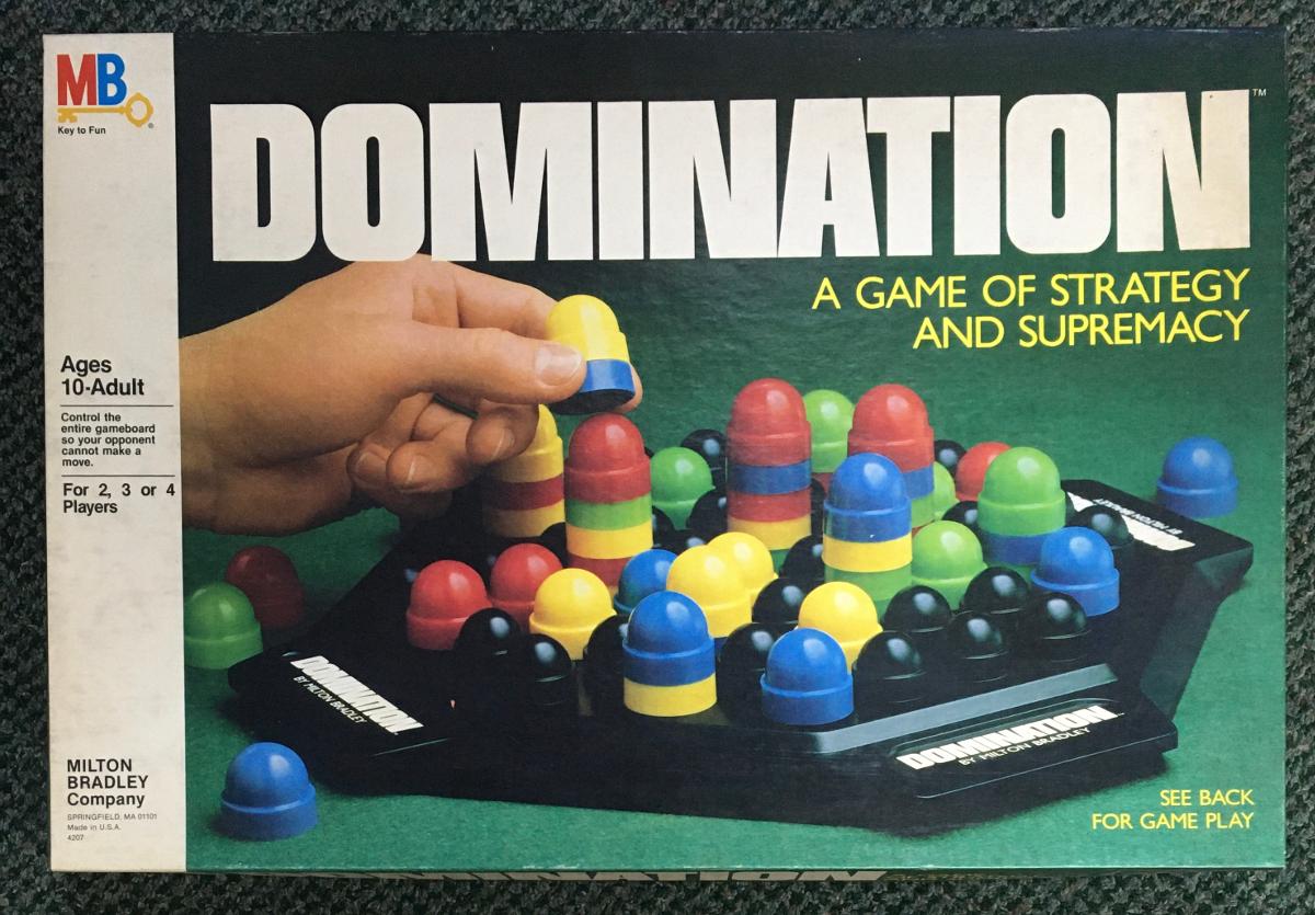 1982 milton bradley domination game 1