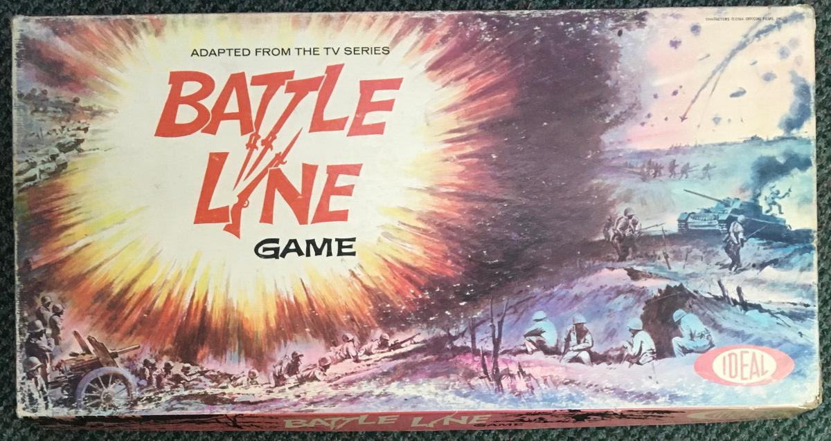 1964 ideal battle line board game 1