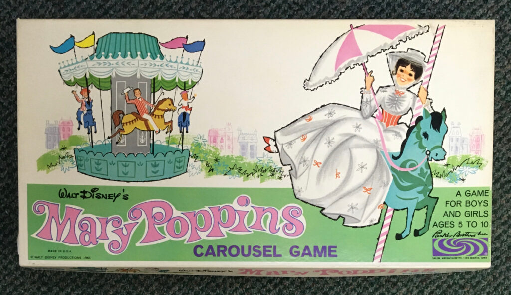 1964 parker brothers maty poppins carousel game 1