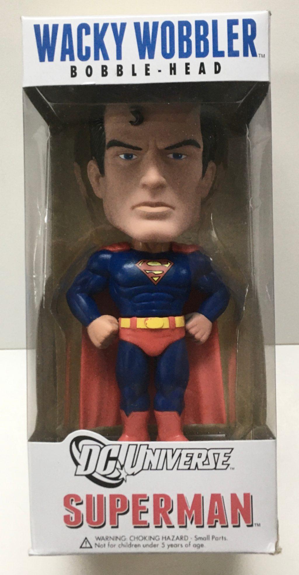 funko dc universe superman wacky wobbler