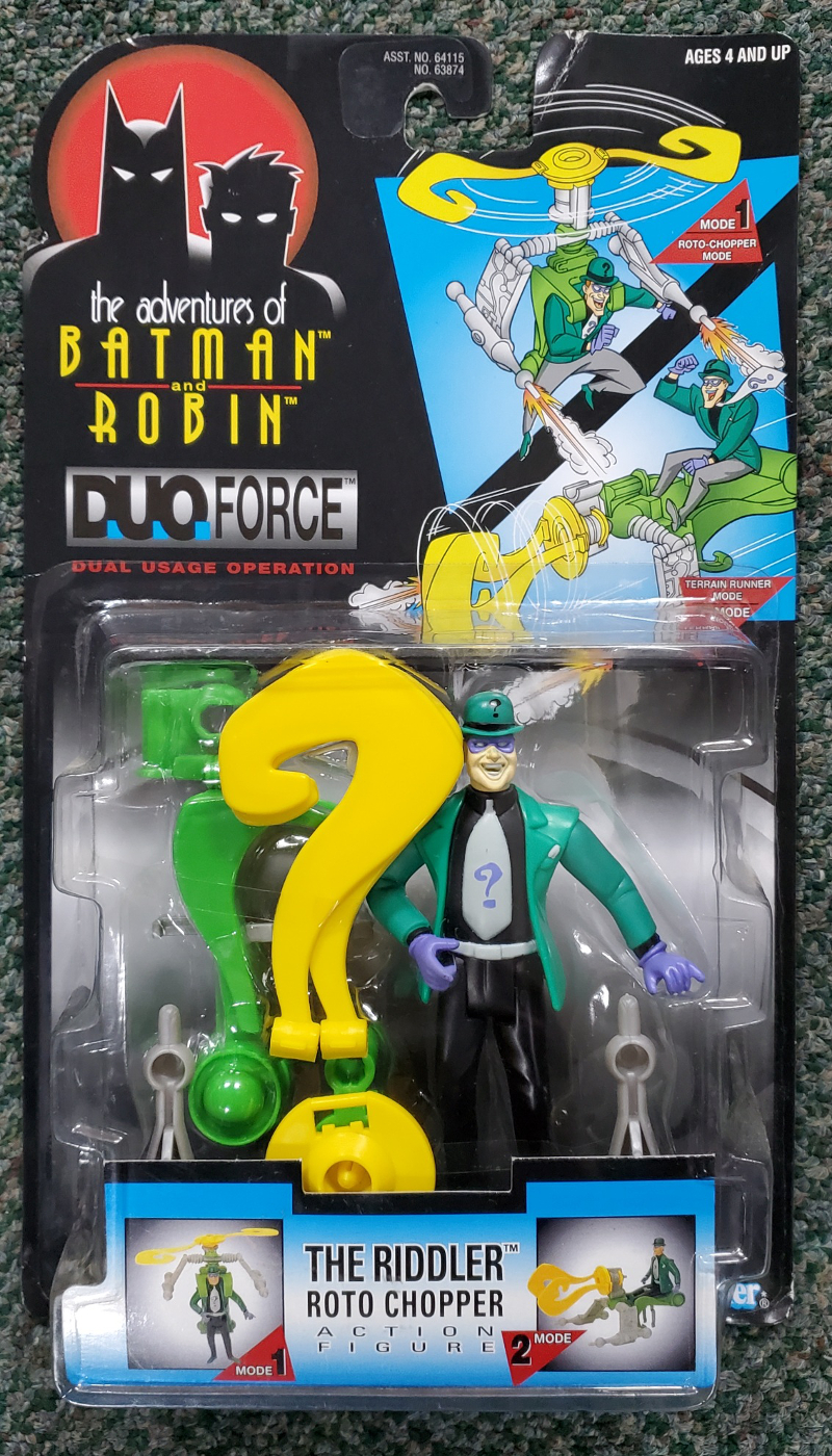 adventures of batman and robin duo force roto chopper riddler action figure 1