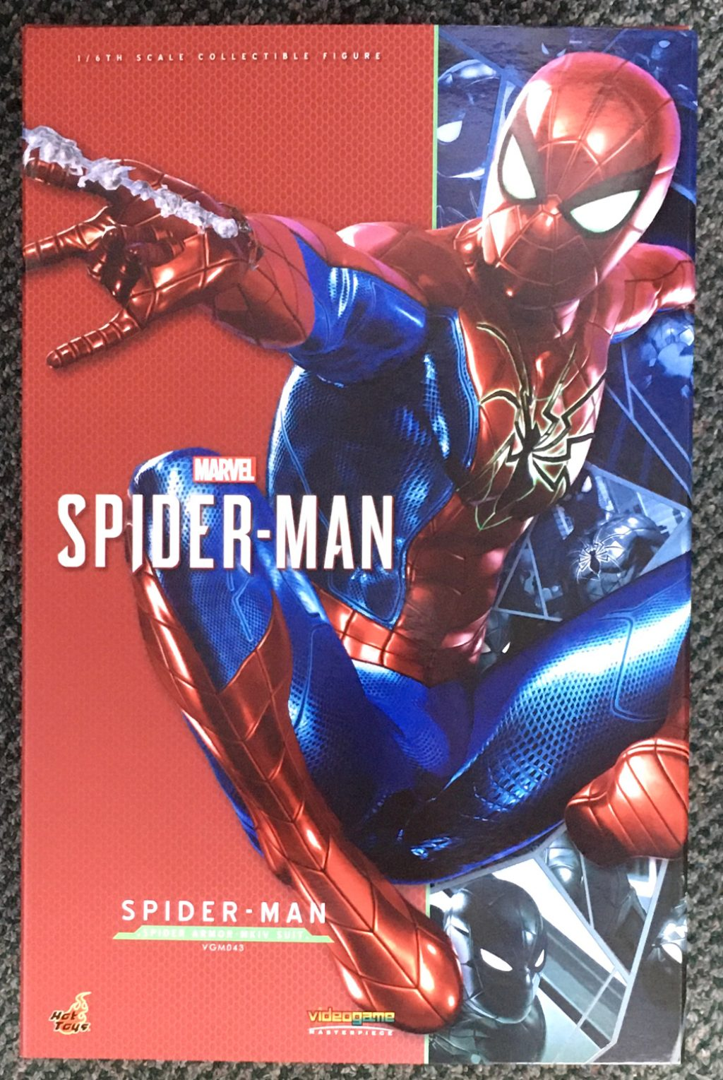 hot toys marvel's spider-man spider armor mark iv suit 1:6 scale figure 1