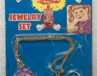 1985 Garbage Pail Kids Jewelry Set – Brutal Bridget, Luke Warm & Mad Mike: Sealed