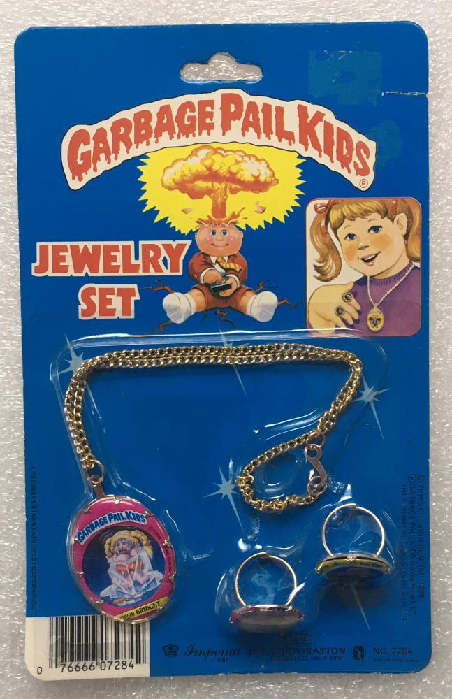 1985 Garbage Pail Kids Jewelry Set - Frigid Bridget, Mad Mike & Unstitched Mitch