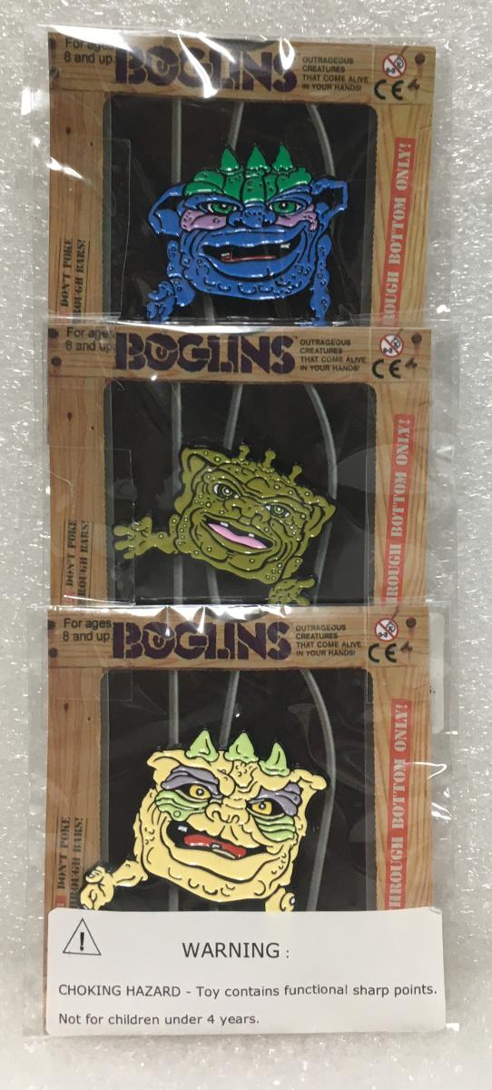 Tri Action Toys Boglins Enamel Pin Set: King Drool, King Dwork & King Vlobb 1