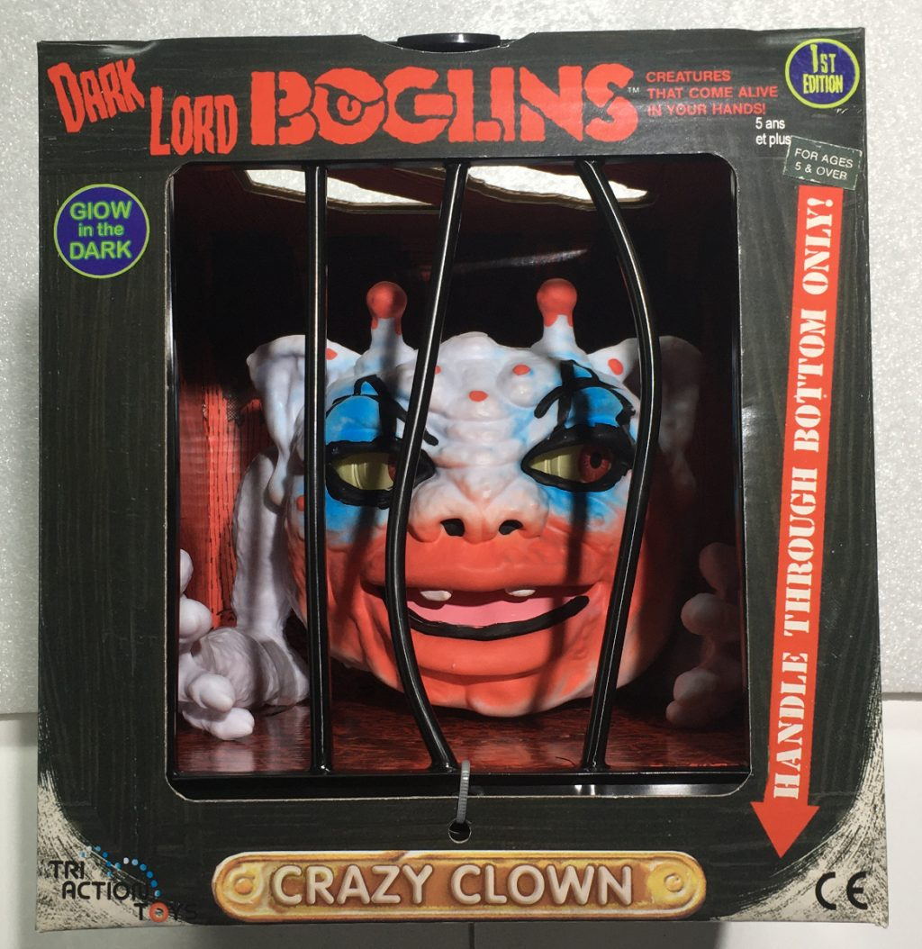 Tri Action Toys Dark Lord Boglins Crazy Clown - First Edition 1