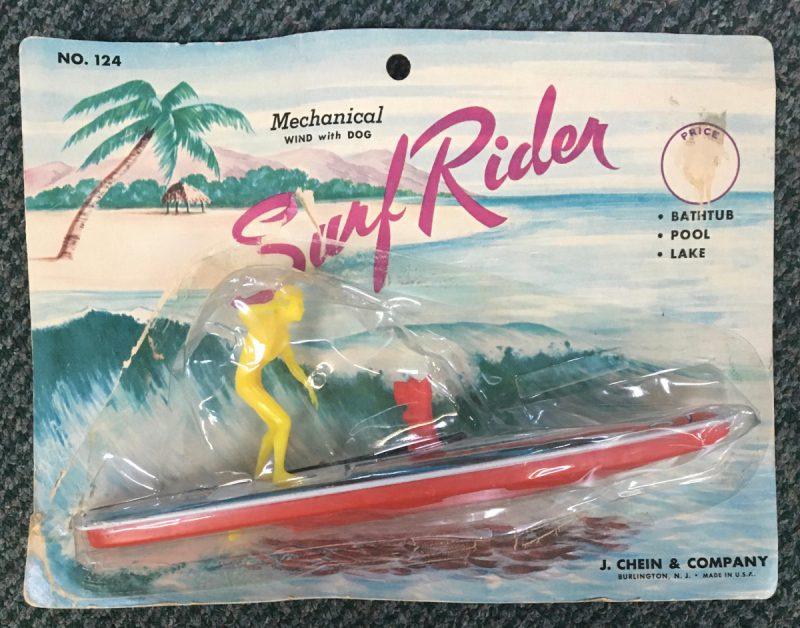 J Chein Surf Rider with Scottie Dog Tin Litho Wind-Up 1
