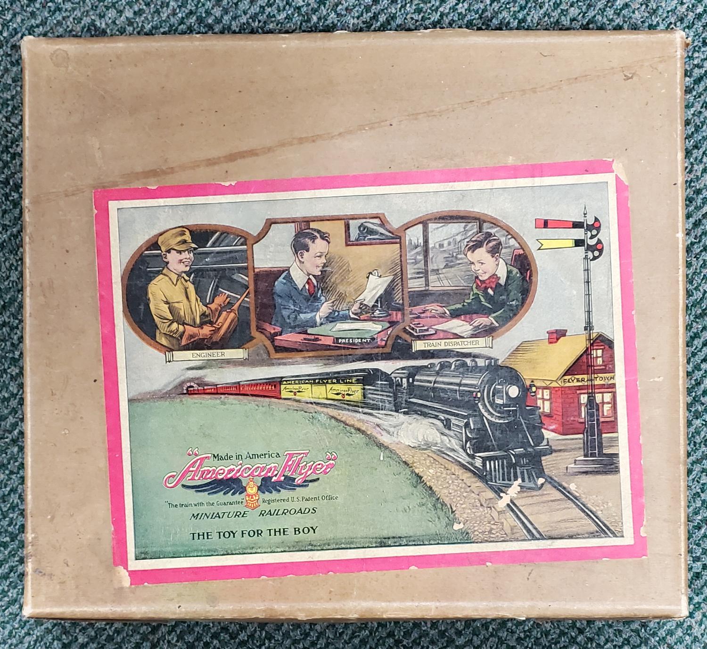 1921 American Flyer Miniature Railroads Tin Litho Wind-Up Train in Box 1