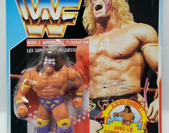 Hasbro WWF Ultimate Warrior Action Figure – Mint on French Card