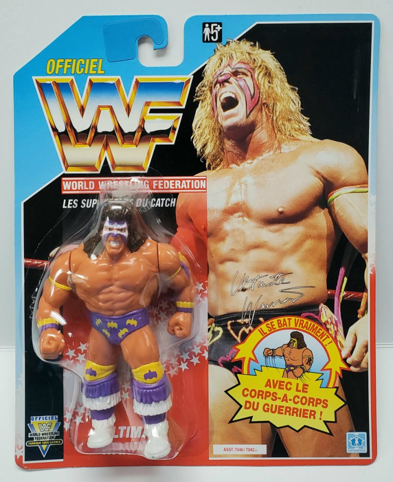 Hasbro WWF Ultimate Warrior Action Figure - Mint on French Card 1