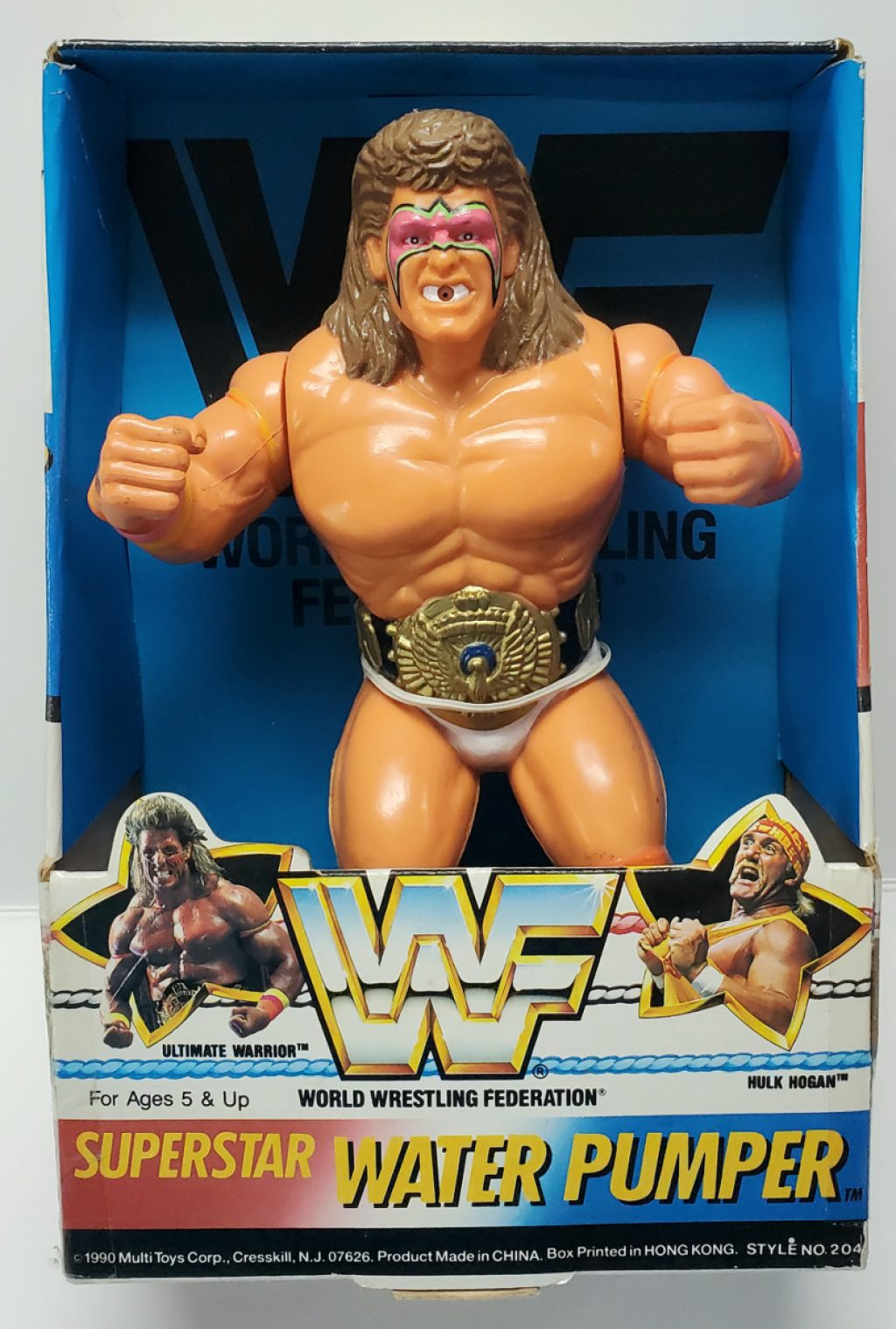 WWF Superstar Ultimate Warrior Water Pumper in the Box 1