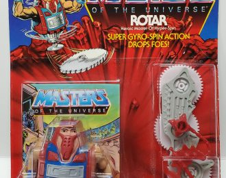 1986 Masters of the Universe (MOTU) Rotar Action Figure Mint on Factory Sealed Card