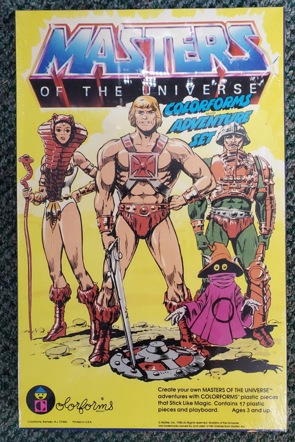 1985 Masters of the Universe (MOTU) Colorforms Adventure Set