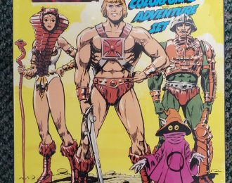 1985 Masters of the Universe (MOTU) Colorforms Adventure Set Mint in Factory Sealed Box