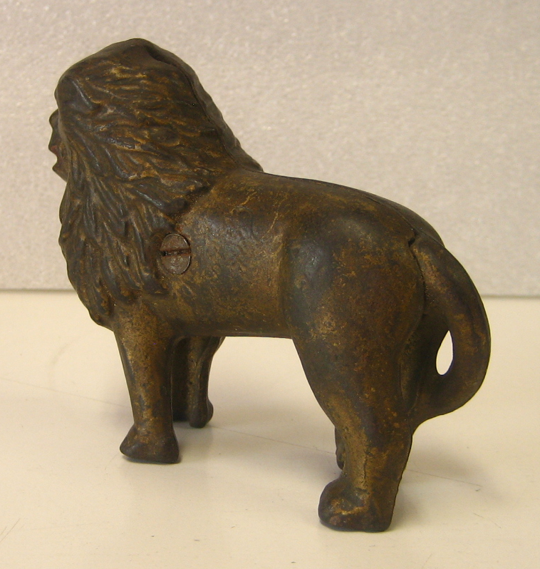 Cast Iron Lion Bank 2
