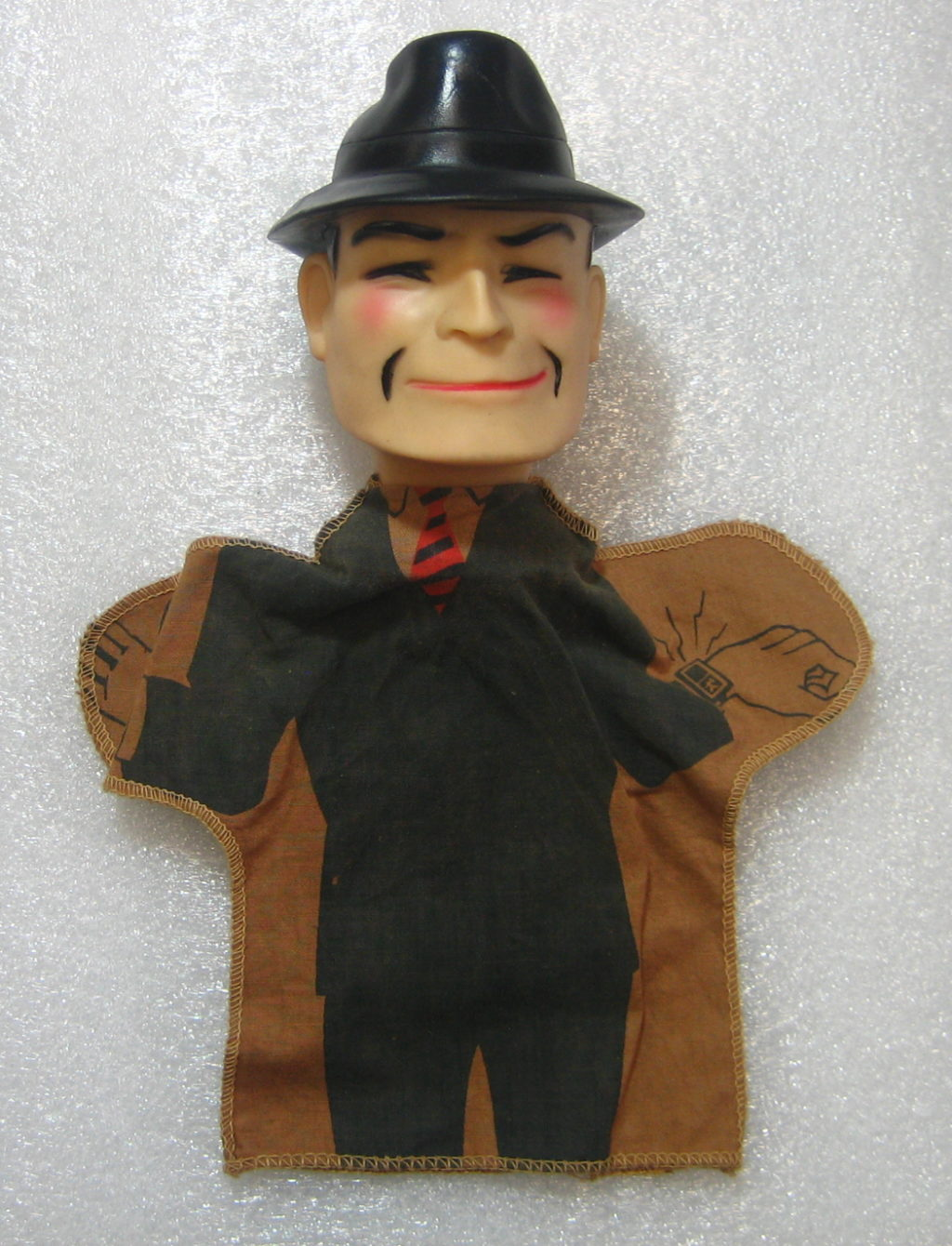 ideal dick tracy hand puppet front